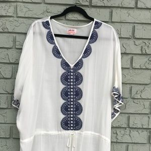 Stella & Dot Beach Embroidered Tunic Cover-Up